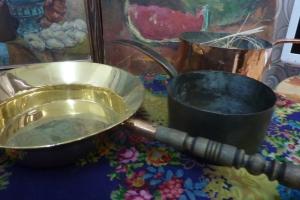 Латунная и медная посуда