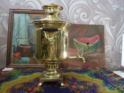 Самовар антикварный жаровой (угольный на дровах), наследники Баташева АРТ.34А