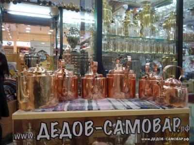 Коллекция старинных красно-медных чайников, до 1917 года, 2,5 - 7 л. Арт.69чнм