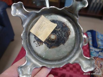 Тульский никелированный самовар на углях из СССР. Арт.470нРЗ