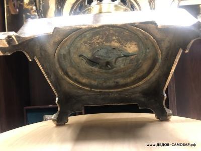 Трактирный антикварный самовар на углях торг. дома братьев Шемариных  Арт.508аА
