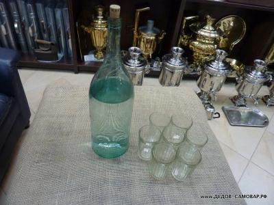 Стаканы граненые из СССР, 250 гр. цена 14 коп.
