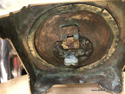 Старинный антикварный самовар середины 19 века. Арт.441аЛ