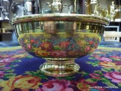 Полоскательная чаша под самовар, новая, латунная. Арт.98пч