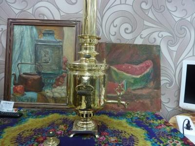 Самовар антикварный Тульский жаровой, редкая фабрика: Афонасьев и сын АРТ.24А
