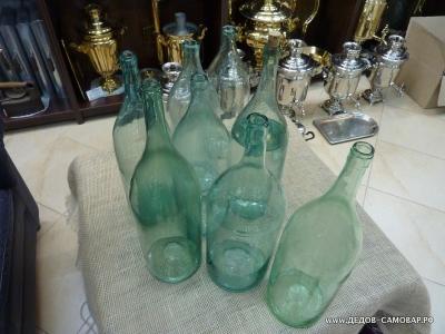 Бутыль старинная, четверть, стекло