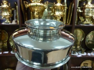 Антикварная полоскательная чаша под самовар, №2, 1882г. 1896г., Мельхиор Арт.105пч