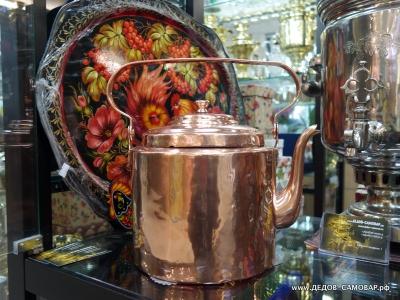Чайник красно-медный дореволюционный. 4,5 литра. Арт.67чм