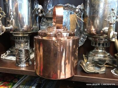 Редкий дореволюционный красно-медный чайник, Товарищество Кольчугина 4,5 л. Арт.109чмК