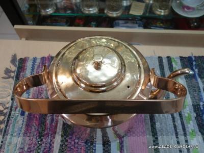 Томпаковый довоенный чайник, 7 литров. Арт.63чн