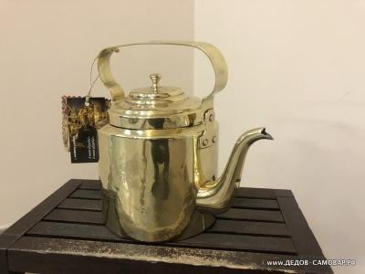 Чайник латунный из СССР Герою Труда, довоенный, 2,5 литра Арт.105члПП