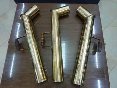 Труба латунная с деревянной ручкой для самовара АРТ.1ТрЛ