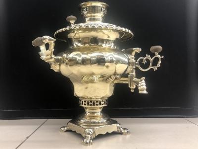Антикварный самовар ваза фабрики Б.Г. Тейле в Туле Арт.477аL
