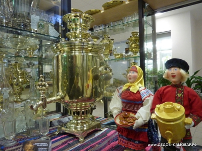 Антикварный жаровой самовар братьев Баташевых , 8 л. Арт.160а