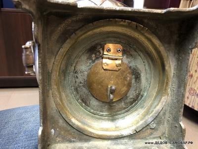 Никелерованый антикварный самовар на углях, фабрики Тейле в Туле. Арт.438аРЗ