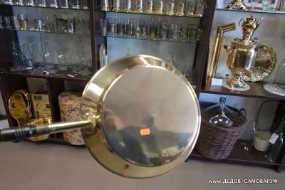 Тульский латунный тазик для варенья  из СССР. Арт.37тл