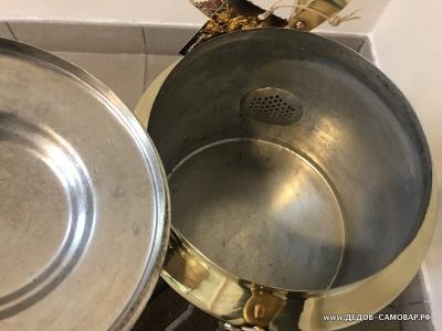 Чайник латунный из СССР, 1952 г.,  7,5 литра Арт110члПП