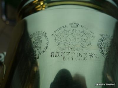 Редкий антикварный самовар фабрики А.Р. Алексеева в Туле. Арт.319аК