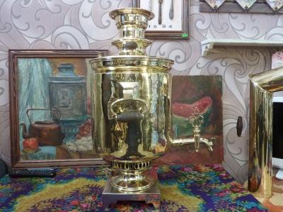 Антикварный самовар, Н.Киселев в Москве 1873г. АРТ.42А