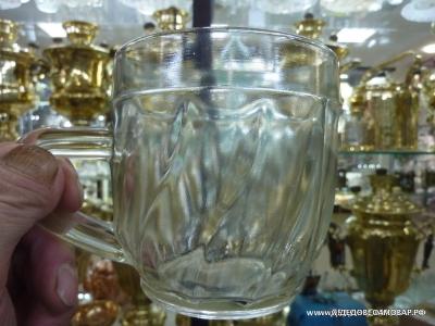 Редкая кружка пивная, пузатая, винтом, СССР, 1950-е годы, 0,5 литра