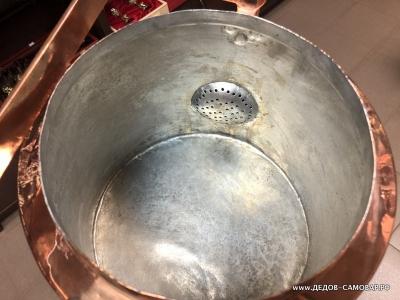 Полковой антикварный красно-медный чайник Тов. Кольчугина, 1882-1896. 9 л. Арт.111чмРЗ