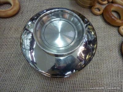 Полоскательная чаша под самовар, СССР 1958-1959г. цвет серебристый АРТ.67ПЧ