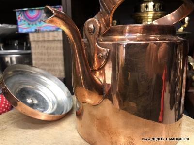 Чайник антикварный красно-медный. 2,5 литра. Арт.101чмЛ