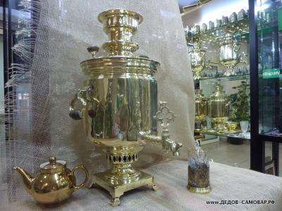 Самовар антикварный жаровой (угольный на дровах), наследники В.С. Баташева Арт.152а