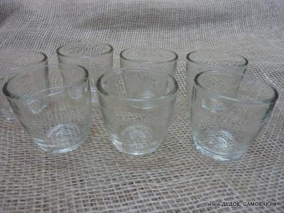 Стопки маленькие с полоской стекло СССР цена 5 коп.