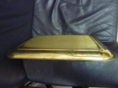 Поднос новый прямоугольный латунный с рисунком АРТ.96ПС