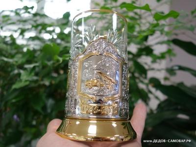 """Подстаканник """"Катюша"""", стакан и ложечка  Арт.2пзл"""