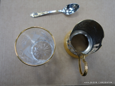 """Подстаканник """"Пляски"""", стакан и ложечка  Арт.5пзл"""