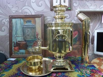Антикварный тульский (жаровой, на дровах) самовар ,бр.Воронцовых в Туле, 9 л. АРТ.44А