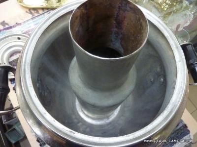 Самовар жаровой, угольный, на дровах, Тульский никелированный СССР 1955г. Арт.374нПП